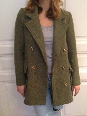 Zara Wool Jacket olive green-green grey wool