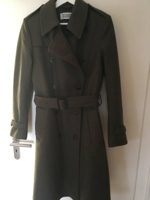Olivfarbener Woll-Trenchcoat von Closed