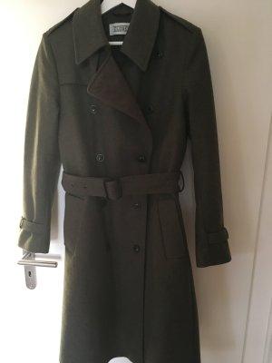 Olivfarbener Woll-Trenchcoat von Closed