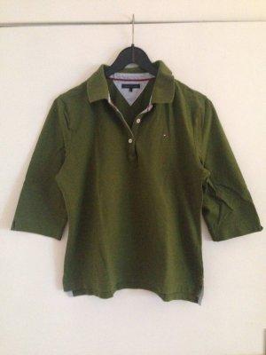 Olivfarbenes Poloshirt