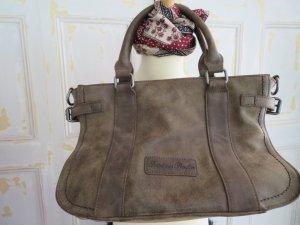 olivgrün Braun Handtasche Fritzi aus Preußen Ledertasche vegan