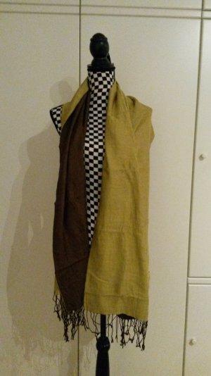 Sjaal bruin-olijfgroen