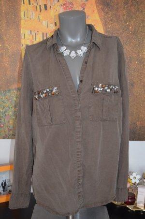 Olivgrüne Bluse/Hemd