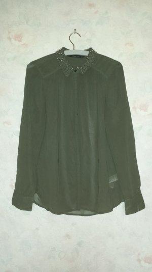 Olivgrüne Bluse von Zara