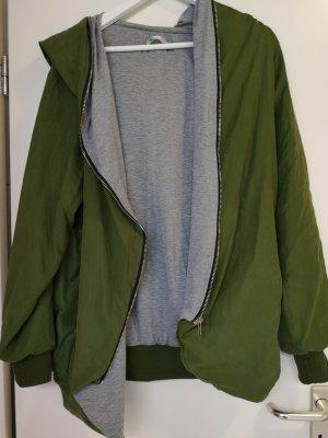 Lesara Oversized Jacket light grey-olive green