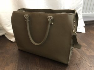H&M Carry Bag olive green-gold-colored