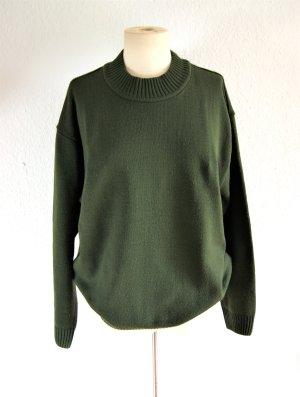 Olivgrüner vintage Pullover, oversized Pullover khaki, boho blogger grunge
