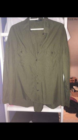 Olivgrünes Hemd/Bluse