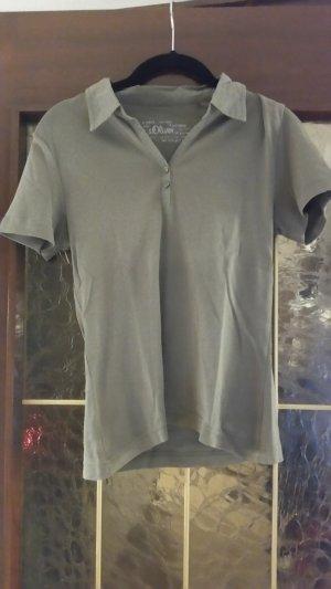 s.Oliver Polo Shirt olive green-khaki