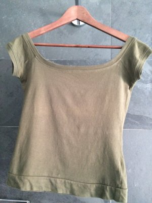 Olivgrünes Shirt Bershka