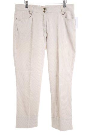 Olsen Bundfaltenhose beige-braun Streifenmuster Elegant