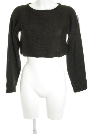 Olsen Collection Cropped Shirt dunkelgrün