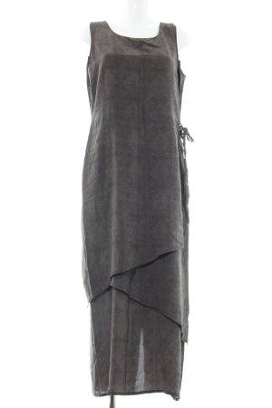 Olsen Collection Vestido largo gris claro-negro look casual