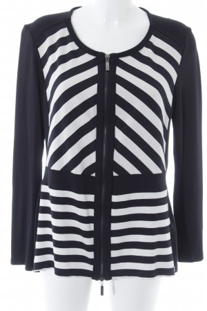Olsen Collection Shirt Jacket black-natural white striped pattern business style