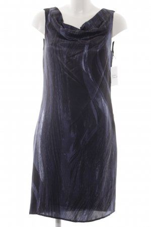 Olsen Etuikleid schwarz-dunkelblau abstraktes Muster Casual-Look