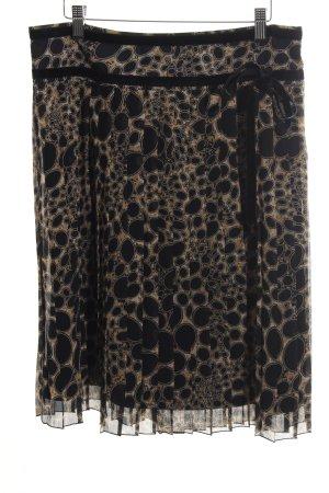 Olsen Faltenrock schwarz-bronzefarben abstraktes Muster Casual-Look