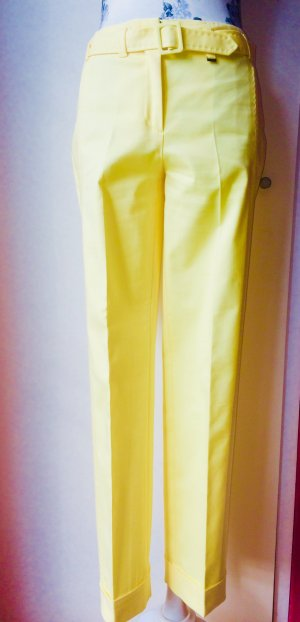 Olsen Low-Rise Trousers yellow