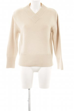 Olsen Grobstrickpullover creme Casual-Look