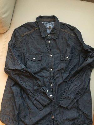 Olsen Denim Shirt slate-gray-blue cotton