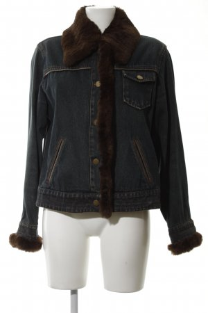 Olsen Jeansjacke blau-braun Street-Fashion-Look