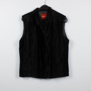 Olsen Fake Fur Vest black mixture fibre
