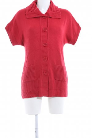 Olsen Short Sleeve Knitted Jacket red casual look