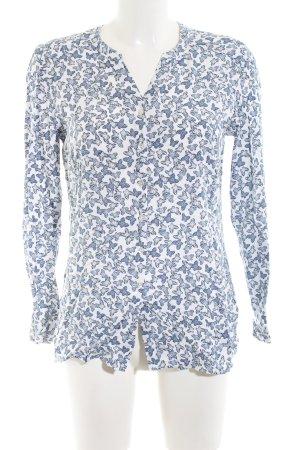 Olsen Camisa de manga larga blanco-azul look casual