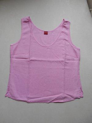 OLSEN Leinen Top Hemdchen Shirt Pastellrosa - pink