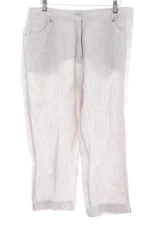 Olsen Leinenhose weiß-hellgrau meliert schlichter Stil