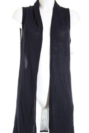 Olsen Longstrickweste dunkelblau klassischer Stil