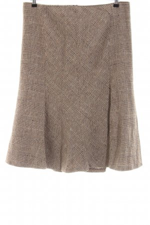 Olsen Midi-rok bruin-wolwit volledige print zakelijke stijl