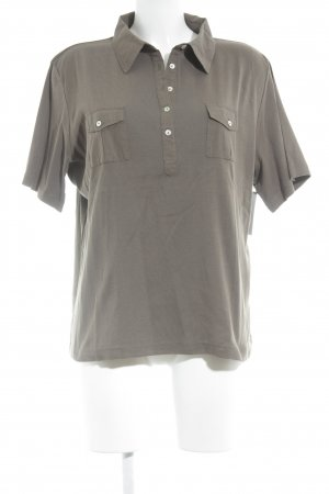 Olsen Camiseta tipo polo caqui look casual