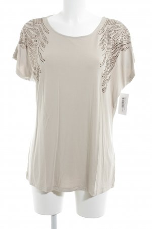 Olsen Camiseta estampada beige-color bronce look casual