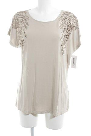 Olsen Print-Shirt beige-bronzefarben Casual-Look