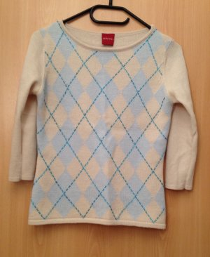 OLSEN Pullover mit Argyle-Muster