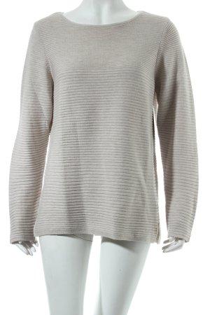 Olsen Rundhalspullover beige Casual-Look