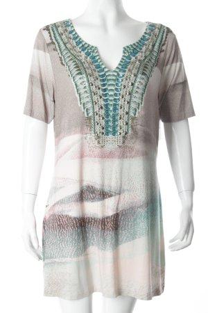 Olsen Shirttunika mehrfarbig Schmucksteinverzierung