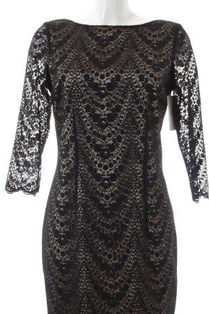 Olsen Kanten jurk zwart-beige elegant