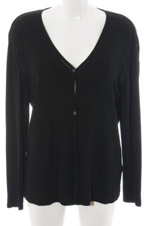 Olsen Strickjacke schwarz schlichter Stil