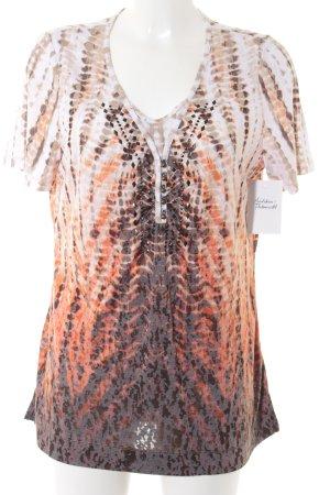 Olsen T-Shirt abstrakter Druck extravaganter Stil