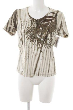 Olsen T-Shirt Batikmuster Casual-Look