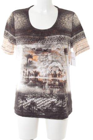 Olsen T-Shirt Ornamentenmuster Casual-Look