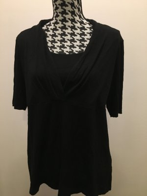 Olsen Cowl-Neck Shirt black viscose