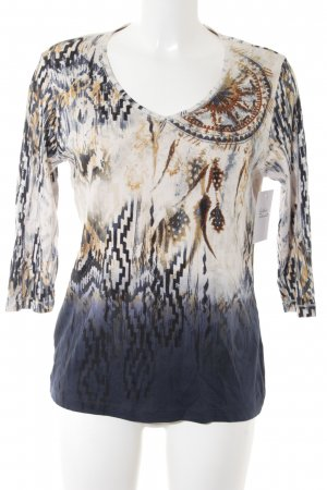 Olsen V-Ausschnitt-Shirt Aztekenmuster Casual-Look