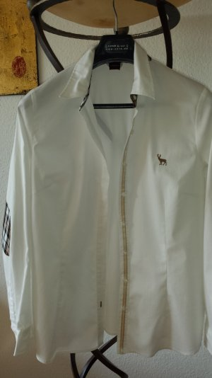 OLSEN weiße Bluse karo brit Gr.40