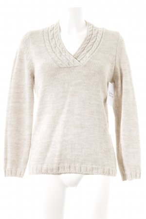 Olsen Wool Sweater cream cable stitch simple style