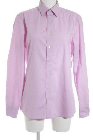 Olymp Hemd-Bluse weiß-pink Karomuster Business-Look
