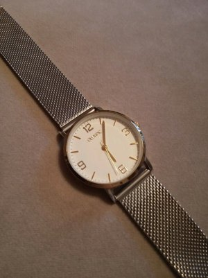 Olympic Watch With Metal Strap silver-colored-gold-colored stainless steel