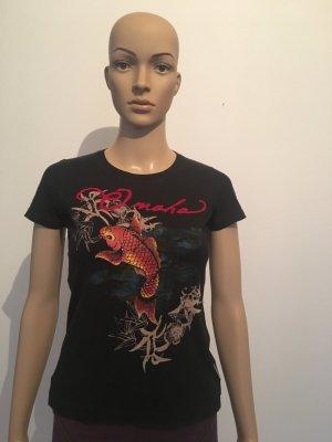 T-Shirt black mixture fibre
