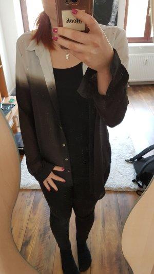 Ombré Bluse schwarz weiß